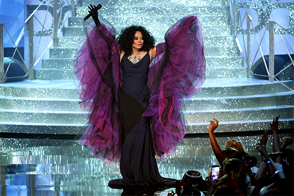 Diana Ross performed a range of her medleys as a major winner of the night