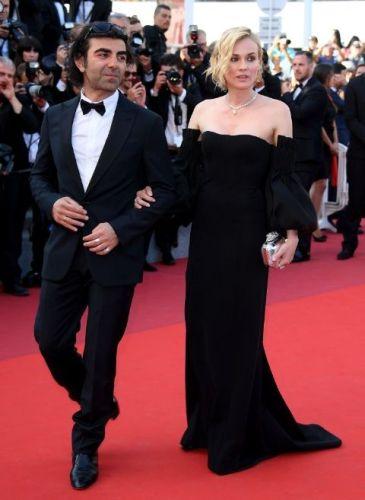 Diane Kruger in custom Jonathan Simkhai and Chopard jewels
