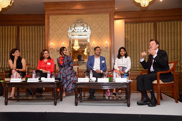 Dr Pervin Dadachanji, Dr Jamuna Pai, Sonam Kapoor, Vivek Gambhir, Shuchi Kothari & Professor Geoffrey Jones