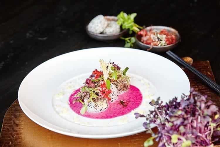 Dragon-Fruit and Seaweed Salad