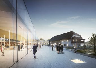 Rendering of life at the new future EHL Campus Lausanne