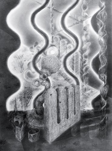 Akara Art, Elizabeth Drury, Mirage, graphite on paper, 114.3 x 83 cm, 2017