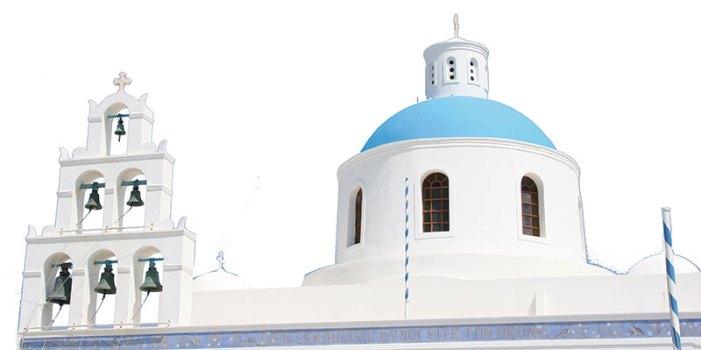 Church bells in Santorini
