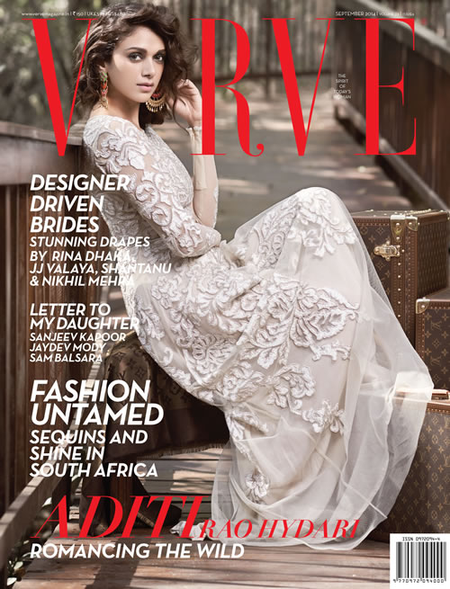 Aditi Rao Hydari cover for Verve's September Bridal Issue 2014 shot in South Africa