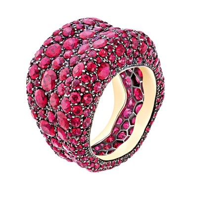 Faberge Emotion Ring set with Gemfields Mozambican Rubies