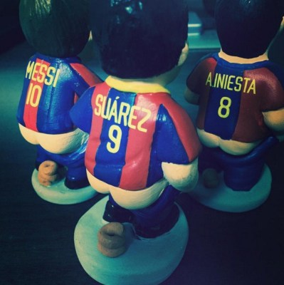 Famous footballer caganers