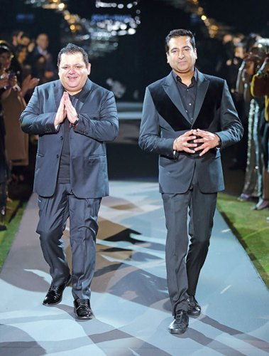 Rohit Gandhi and Rahul Khanna at autumn winter 2018 showcase