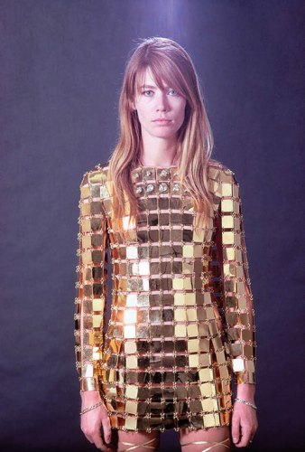 Françoise Hardy in Paco Rabanne, shot by Jean Louis Guégan in 1967