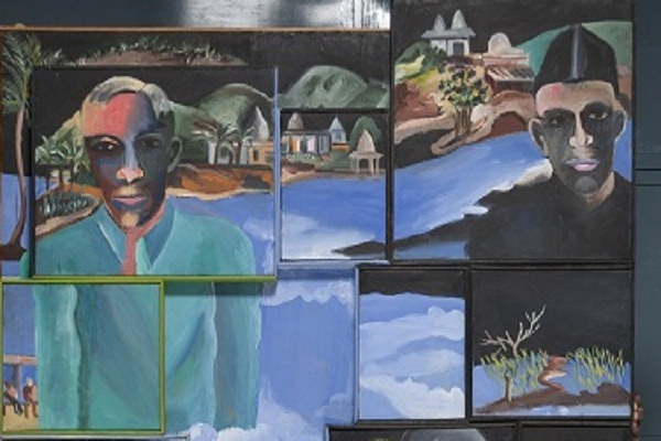 Artwork by Bhupen Khakhar at Tate Modern, London