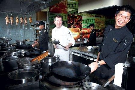 Chefs Giancarlo Di Francesco and Then Kok Leong