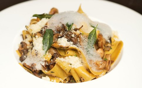 Mushroom Pappardelle With Parmesan Foam