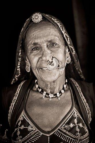 Meera Devi Bisnoi at her home in ketolai, Rajasthan