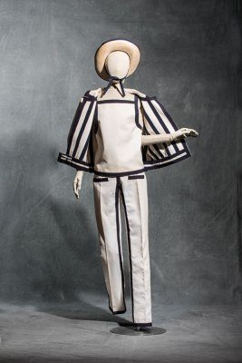 André Courrèges, trouser ensemble, haute couture, Spring/Summer 1965, wool and cotton double-sided twill