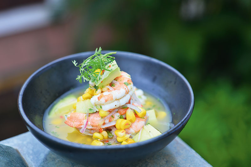 Shrimp, Avocado and Orange Ceviche