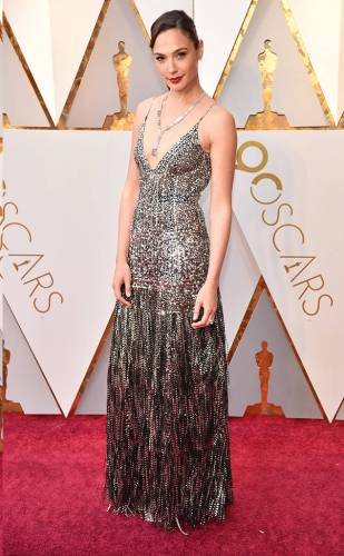 Gal Gadot in Givenchy and Tiffany & Co. jewellery
