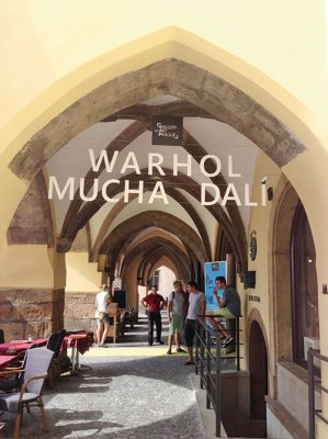 Warhol, Mucha and Dali exhibit at the Gallery of Art, Prague