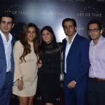 Gaurav Bhatia, Mamta Anand, Mona and Essaji Vahanvati, Bharat Kapoor at the launch of Art Of Time in Bandra