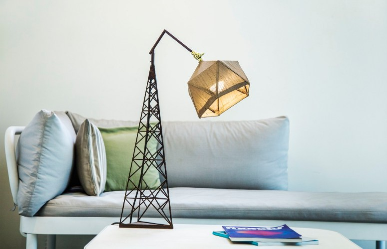 Geodesic desk lamps