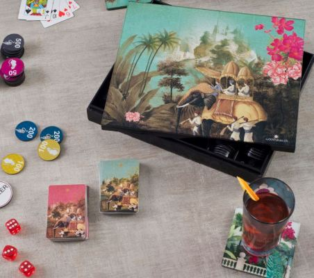 Golden Howdah poker box  by Good Earth