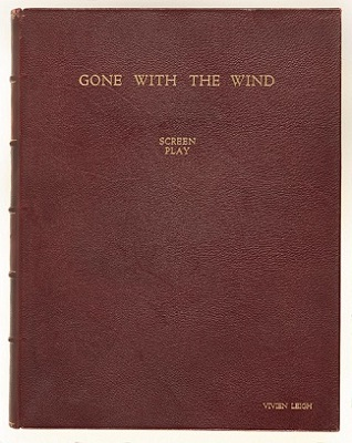 Gone with the Wind, screen play, binding, 1