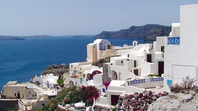 Grecian islands, Blue View: Oia, Santorini