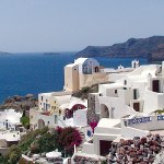 Grecian islands, Blue View: Oia, Santorini