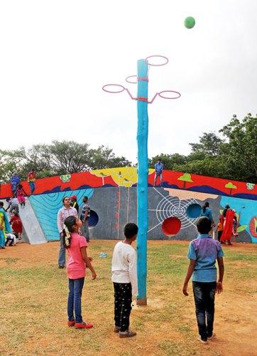 Playground at Hennur lake Biodiversity Park, Bengaluru