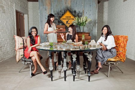 Aparajita Jain, Gunjan Gupta, Feroze Gujral and Deepshikha Khanna: work-day lunch