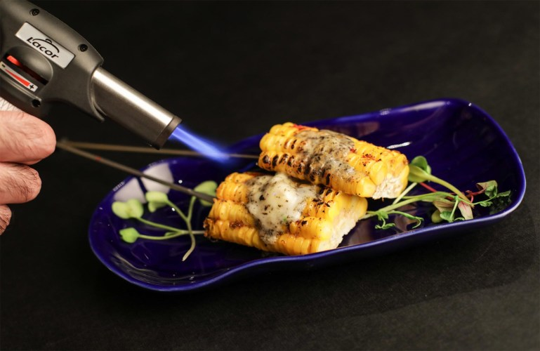 Hokkaido Corn with Seaweed and Spur Chilli Butter