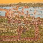 İstanbul Topkapı'ya Bakış by Devrim Erbil for Percept Art