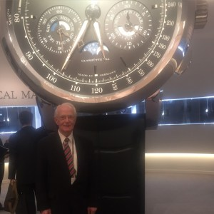 A Lange and Soehne's charming Walter Lange at his booth