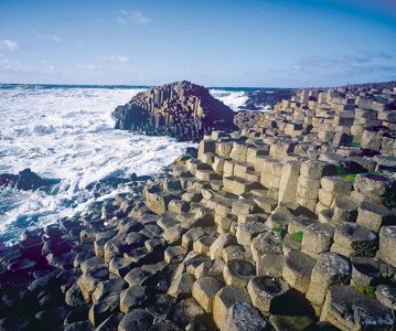 The iconic Giant's Causeway