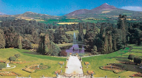 View of Powerscourt Gardens