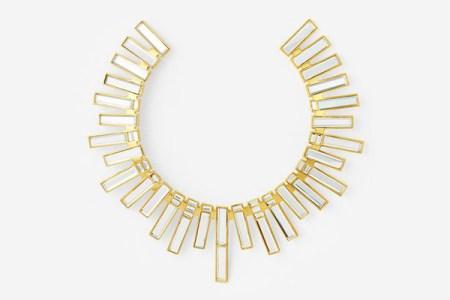 Isharya Mirror Statement Choker necklace
