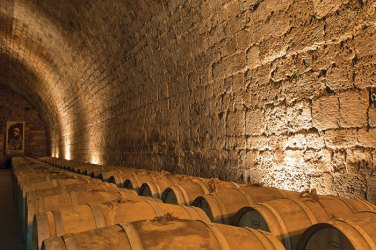 Phot brandy barrel cellar