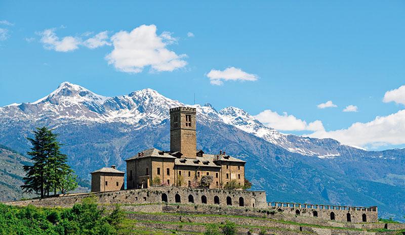 Castle of Sarre in Aosta Valley