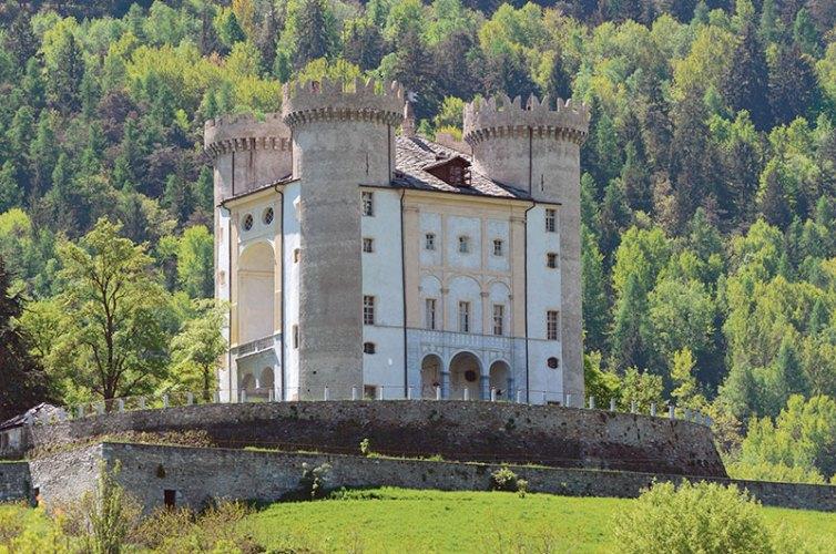 Aymavilles Castle in Aosta Valley