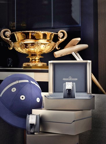 The Jaeger-LeCoultre Gold Cup with specially engraved Reverso Grande Taille watches