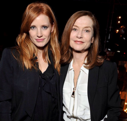Jessica Chastain, Isabelle Huppert at Givenchy