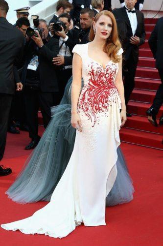 Jessica Chastain in custom Zuhair Murad and Piaget jewellery