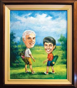 Golfing around: Peter and Jill Beckingham playing golf