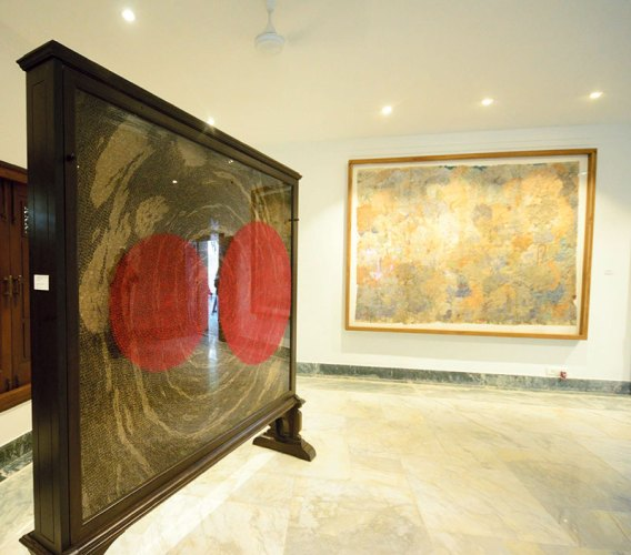 Contemporary gallery with works by Bharti Kher and Varunika Saraf