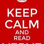 Verve Meme: Keep Calm and Read Verve