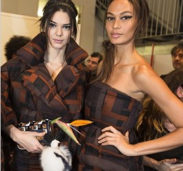Kendall Jenner, Joan Smalls at Fendi