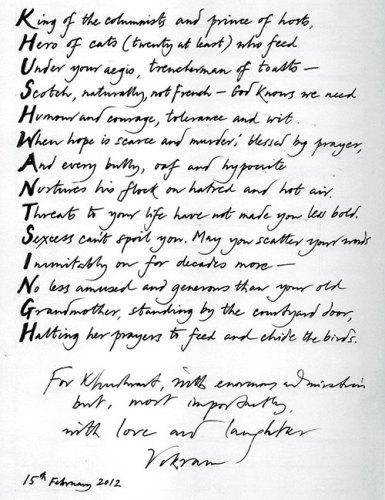 Poem on Khushwant Singh written by Vikram Seth