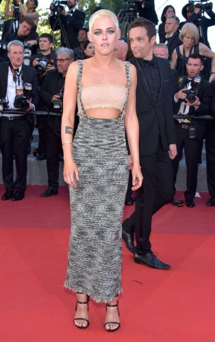 Kristen Stewart in a Chanel dress and Le Silla shoes