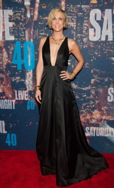 Kristen Wiig: Brownie points to the daring neckline.