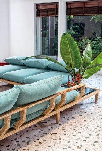Shanti Sofa, designed for Seolekar's brother's residence