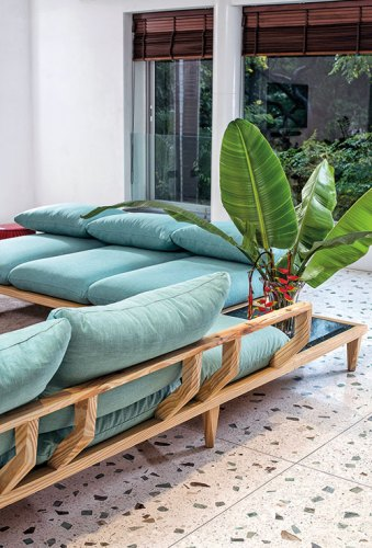 Shanti Sofa, designed for Seolekar's brother's residence