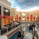 Gondolas at the Venetian's Grand Canal, Las Vegas, USA